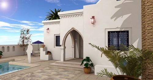 Plan Maison 100m2 Tunisie : Maison villa plein pied à djerba tunisie