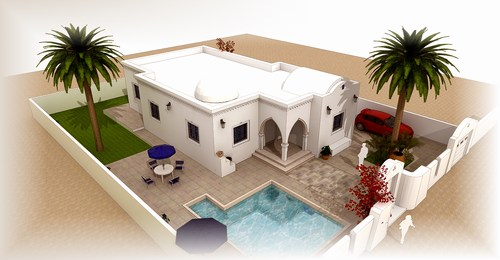 Plan maison tunisie maintenant propose vendre immobilier for Budget construction maison tunisie